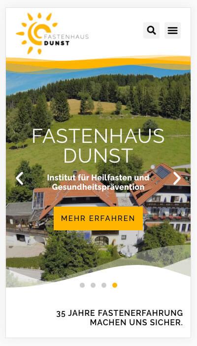 Responsive Design - Fastenhaus Dunst